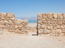 View of Dead Sea from fortress Masada, Israel Stock Image