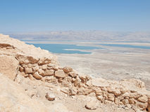 View of Dead Sea from fortress Masada, Israel Royalty Free Stock Image