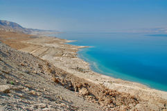 View of the Dead sea, Israel. Dead sea and desert from the viewpoint Stock Images