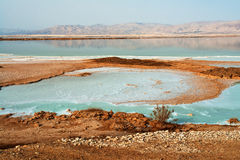 View of Dead Sea Israel coastline. View of the famous health psoriasis treatment resort Dead Sea Israel coastline Royalty Free Stock Images