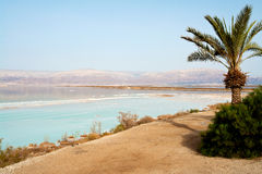 View of Dead Sea Israel coastline Stock Image