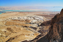 View on Dead Sea from Masada Stock Photography