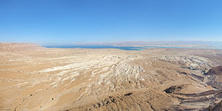 View of Dead Sea from Masada fortress, Israel Royalty Free Stock Photos