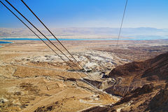View of the Dead Sea and the mountains of Jordan Stock Images