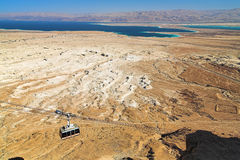 View of the Dead Sea and the mountains of Jordan Stock Photo