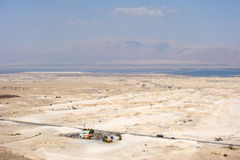 View of the Dead Sea valley Stock Photography
