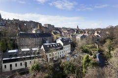 View on Dean village in Edinburgh Royalty Free Stock Image