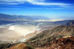 A view from Death Valley from Dante`s view royalty free stock image