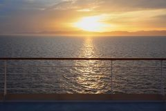 View from deck of cruise ship. Stock Images