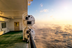 The view from the deck of ferry Stock Image
