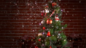 View of a decorated christmas tree stock footage