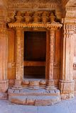 View of the decorative entrance of a balcony. Adalaj Stepwell, Ahmedabad, Gujarat. India Stock Image