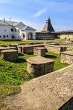 View of the Decrees chambers and Vlasyevsky tower. Pskov Krom, Russia royalty free stock photos