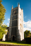 A view of dedham church in summer light with a beautiful blue cl Royalty Free Stock Images
