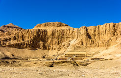 View of Deir el-Bahari, a complex of mortuary temples Stock Photography