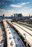 View of the Delaware Expressway from the Ben Franklin Bridge Wal Stock Image