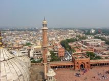 View of Delhi high from Temple turret stock photo