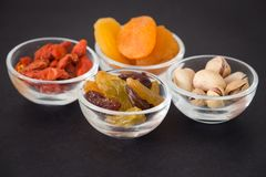 View of the Delicacies snack in the small bowl. Delicacies snack in the small bowl Royalty Free Stock Photo