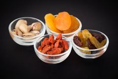 View of the Delicacies snack in the small bowl. Delicacies snack in the small bowl Stock Photo