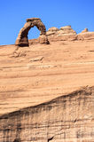 Delicate Arch abd cliff. View of Delicate Arch abd cliff, USA Stock Images