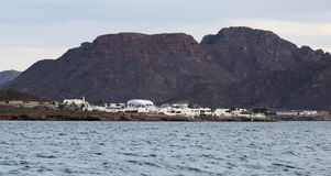 A View of Delphinario Sonora From the Sea, Near San Carlos, Guay Royalty Free Stock Images