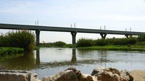 View Delta Llobregat railway bridge Stock Photos
