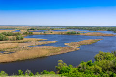 View on delta river in nice spring day Royalty Free Stock Photos