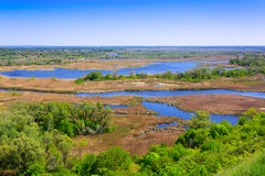 View on delta river Royalty Free Stock Image