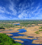 View on delta Vorskla river Royalty Free Stock Images