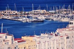 View of Denia Port Royalty Free Stock Photography