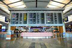 View of Departure display of Singapore Airport Royalty Free Stock Photography
