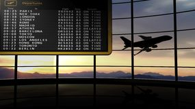 View on departures timetable Royalty Free Stock Photo