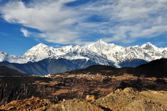 View of deqin snow mountain ,yunnan china Royalty Free Stock Photo