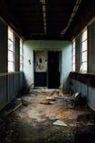 Derelict Hallway - Abandoned Hospital stock image