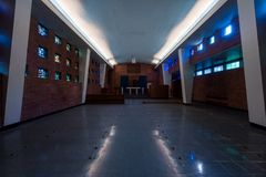 Mid-Century Chapel - Abandoned Veterans Hospital - Pittsburgh, Pennsylvania royalty free stock photography