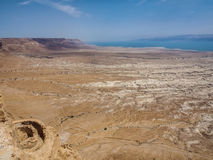 View of the desert and the Dead Sea from Masada, Israel Stock Photos