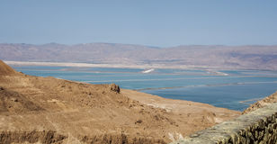 View of the desert and the Dead Sea from Masada, Israel Stock Image