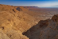View of the Desert from a High Cliff stock photo