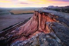 View of desert landscape. Navarra, Spain Royalty Free Stock Image