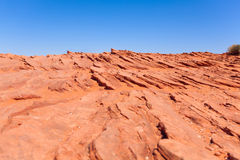View of desert near Colorado river canyons, USA Royalty Free Stock Image