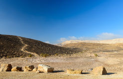 View on desert of the Negev Stock Photos