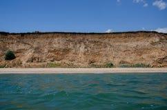 View of a deserted summer beach Stock Photos
