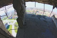 View from destroyed water tower. Royalty Free Stock Photography