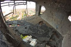 View from destroyed water tower. Stock Photography