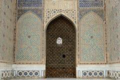 Bibi-Khanym mosque Samarkand, Uzbekistan. View on the detail in Bibi-Khanym mosque, one of the Islamic world's biggest mosques, built by Timur in 15th stock photos