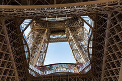 View of the detail of the Eiffel Tower in Paris. France. Stock Photos