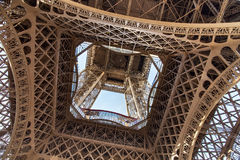 View of the detail of the Eiffel Tower in Paris. France. Stock Photography