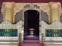 Big royal mandalay palace, Myanmar. View and detail of the exterior and interior of the royal mandalay palace. beautiful decorations. Myanmar stock image