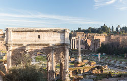 View of details of Ancient Rome Stock Photography
