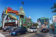 View and Details of Niagara Fall City Stock Photo